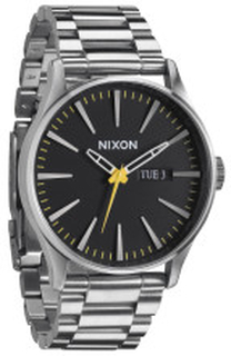 Nixon A3561227-00 The Sentry Svart/Stål Ø42 mm