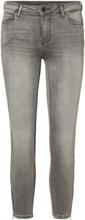 NOISY MAY Ankle Zip Jeans Women Grey