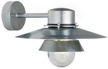 Nordlux Virum udendørs væglampe i galvaniseret stål