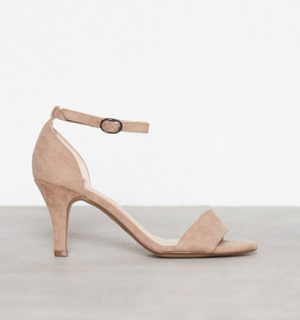 Bianco Low Basic Sandal High Heel Nougat