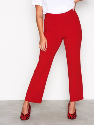 NLY Trend Perfect Day Pants Byxor Röd