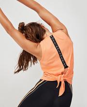 Logo Ribbed Singlet, Cantaloupe