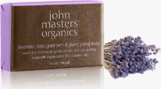 John Masters Lavendel, Rose Geranium & Ylang Ylang Soap, 128g.