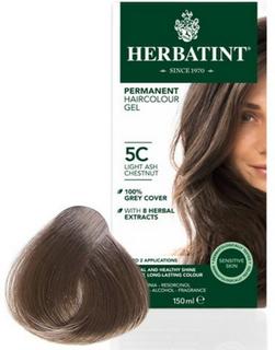 Herbatint 5C hårfarve Light Ash Chestnut, 150ml.