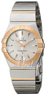Omega 123.20.27.60.02.001 Constellation Quartz 27mm Sølvfarget/18 karat rros