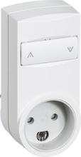 LK IHC Wireless Mobil stikkontakt, 250W, UNI lysdæmper, Med jord, Hvid