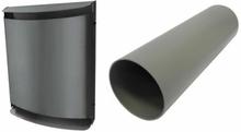 Bosch udvendig sort metal skærm og Ventilationskanal til Vent 2000 D startpakken