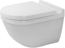 Duravit Starck 3 væghængt toilet uden skyllekant m/toiletsæde