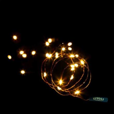 Tivoli Thin Lyskjede, 50 LED, 5 meter, Kobber