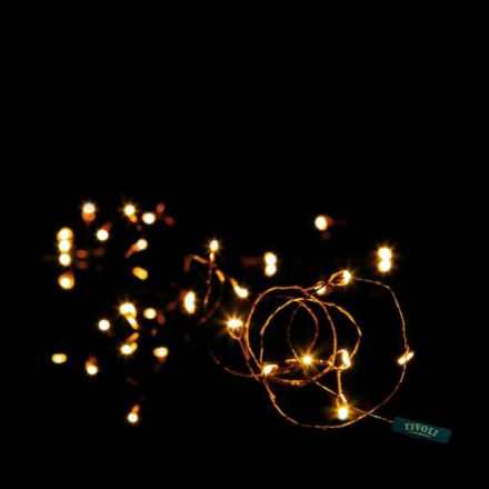 Tivoli Twister Lyskjede, 150 LED, 15 meter, Kobber
