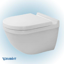Duravit Starck 3 væghængt toilet uden skyllekant m/Wondergliss