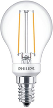 Philips Filament Krone LED 2,7W/827 (25W) E14 Klar Dæmpbar