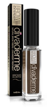 Divaderme Brow Extender II Cappuccino Brown, 9ml.