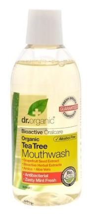 Dr. Organic Mundskyl Tea Tree 500ml.
