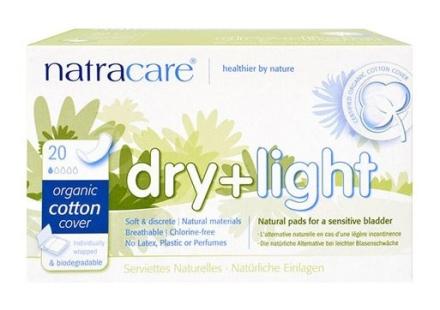Natracare Dry & Light 20 stk. (inkontinens) indpakket enkeltvis 1 pk.