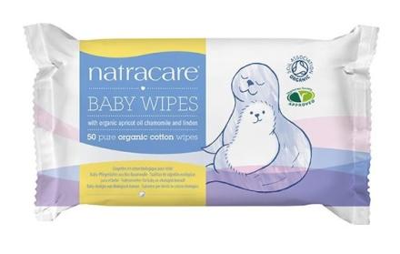 Natracare baby vådservietter 100% bomuld 50 stk.
