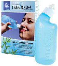 Nasopure Næse skyllesystem indeh. 1 stk 237 ml flaske, 20 stk. salt, 1 pk