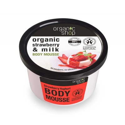 Organic Shop Organic Strawberry & Milk Body Mousse 250 ml