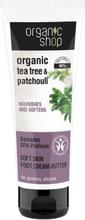 Organic Shop Organic Tea Tree & Patchouli Foot Cream Butter 75 ml