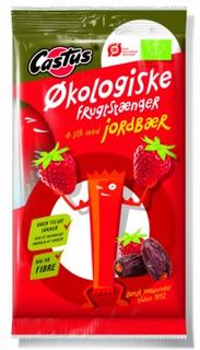 Castus Økologiske Jordbær Frugtstænger 4 stk