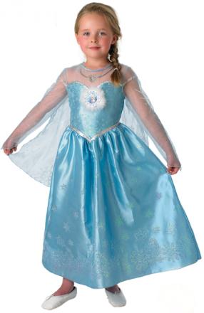 Dräkt Elsa Frost Deluxe barn 122 - 128 cm (7 - 8 år)