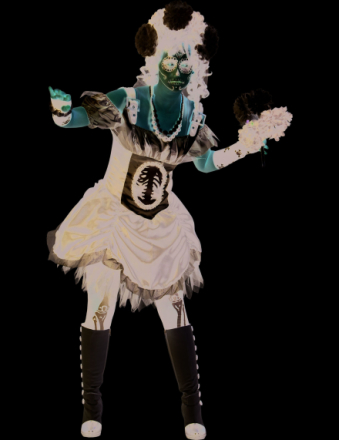 Chic kostume skelet voksen halloween - Vegaoo.dk