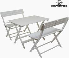 Spisebordsæt med 2 stole Poppeltræ (100 x 70 x 70 cm) by Craftenwood