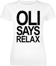 Bring Me The Horizon - Oli Says Relax -T-skjorte - hvit