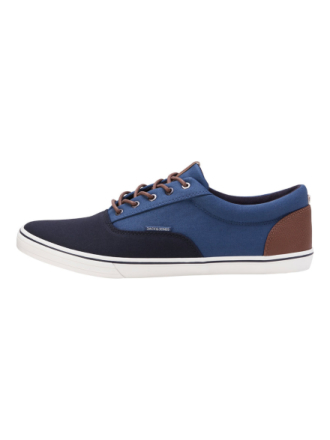 JACK & JONES Canvas Sneakers Men Blue