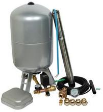 "Komplett 3"" pumppaket inkl. SQE2-85 pump och plåttank - Pumpdjup: 70 m"