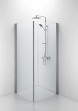 Ifö Space rak dörr m/handtagsprofil 65 cm, klart glas/matt alu profil - Endast 1 dörr