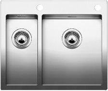 Blanco Claron 340/180-IF Mikrokant Diskbänk 58,5x49 cm m/Korgventil Rostfritt Stål
