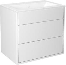 Gustavsberg Graphic möbelpaket, bredd 60 cm, släta vita fronter