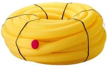Kabelskyddsrör PEH, gul med dragtråd, 50/42 mm x 50 m - Till elkabel