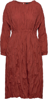 Samara Dress Knelang Kjole Rød Gina Tricot