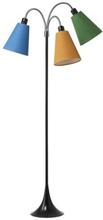 Trafik Golvlampa med 3 armar (exkl. lampskärmar), Svart