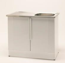 Nimo Tvättbänk NB 1000 L 100x60 cm, Lådplacering höger, Vit