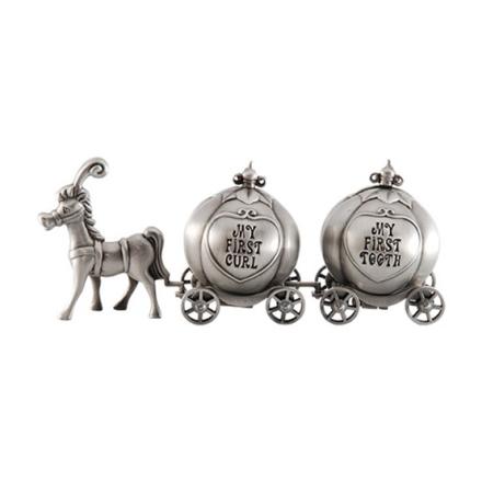 Dacapo Silver - Häst Med 2 Pumpa-Vagnar för tand&Lock