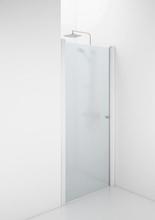 Ifö Space 1100 svängdörr m/knoppgrepp, frostet glas/vit profil