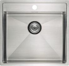 Lavabo Kubus 520 Soft Diskho 50x53 cm m/korgventil - rostfritt stål