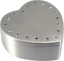 Dacapo Silver - Smyckeskrin Hjärta Med Swarovskikristaller