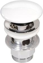 Gustavsberg Estetic pop-up bottenventil med porslinspropp - Vit