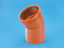 Wavin 110 mm PP markavloppsböj 30°