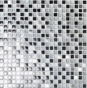 mosaik msg-1041 svart silver mix 1,5x1,5x0,8