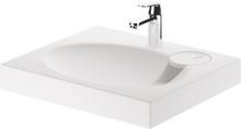 """Claro """"Mini"""" tvättställ och Grohe Eurosmart tvättställsblandare till montering över slimline tvättmnaskin"""