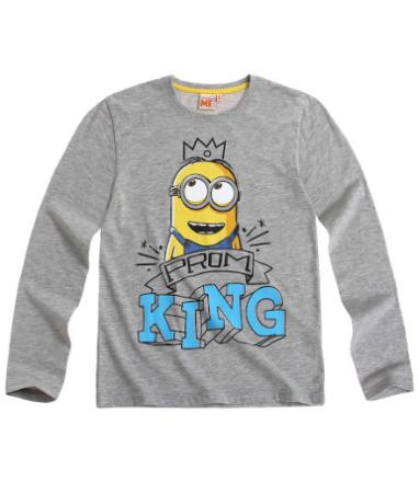 Minions - Langærmet T-shirt gråmelange - Boernsunivers