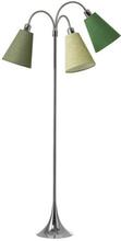 Trafik Golvlampa med 3 armar (exkl. lampskärmar), Krom