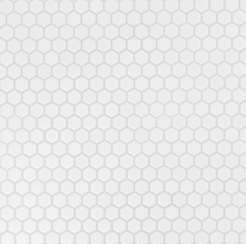 mosaik hx-90 matt vit hexagon 2,5x2,5x0,5