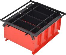 vidaXL Brikettpress i stål för papper 38x31x18 cm svart och röd