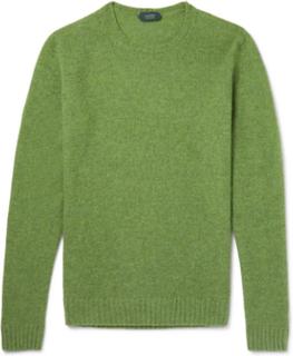 Brushed Virgin Wool Sweater - Green